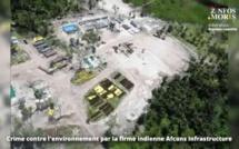 [Vidéo] Crime contre l'environnement à Agaléga par la firme indienne Afcons Infrastructure