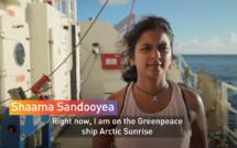 [Vidéo] A bord du Greenpeace Arctic Sunrise avec la mauricienne et biologiste marine Shaama Sandooyea