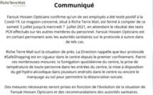 Riche Terre : Farook Hossen Opticians ferme temporairement ses portes, un employé positif au Covid-19