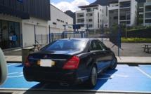 Exemple d'incivilité sur le parking de Décathlon à Moka
